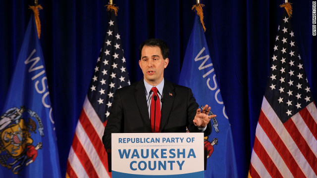The effort to recall Wisconsin's GOP Gov. Scott Walker pits conservatives against labor unions.