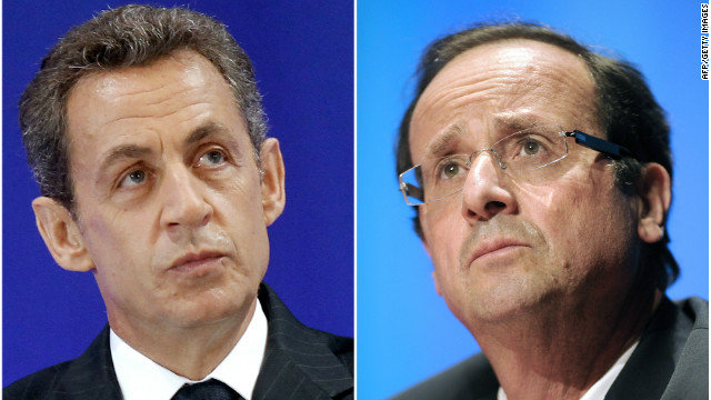 Nicolas Sarkozy and François Hollande.
