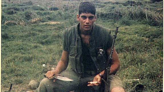 Scott Camil pictured in a cemetery in Dai Loc, Vietnam in 1967