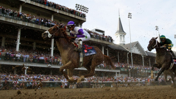 I'll Have Another wins the Kentucky Derby with Mario Gutierrez atop on Saturday.