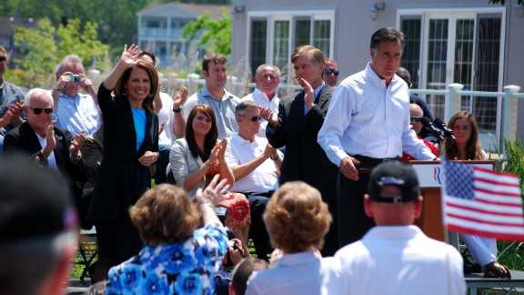 Mitt Romney holds a rally in Virginia last week, joined by Gov. Bob McDonnell (center) and Rep. Michele Bachmann of Minnesota.
