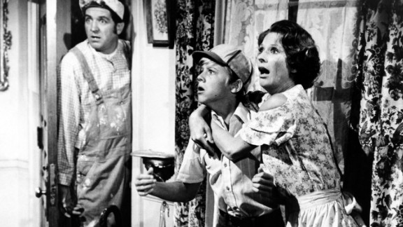 "Lindsey, left, Vince Van Patten and Cloris Leachman perform in a scene from the movie ""Charley And The Angel,"" which was released in 1973."