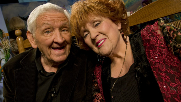 "George Lindsey and Lulu Roman attend Country's Family Reunion Salute to the Kornfield in May  2011 in Nashville, Tennessee. Roman was a regular on the TV series ""Hee Haw,"" which also featured Lindsey's Goober character."