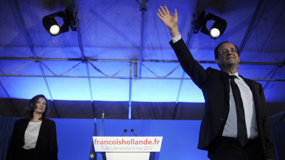 Socialist Party candidate Francois Hollande won France's presidential runoff election on Sunday, May 6. In his victory speech, he promised to be a president for all of France.