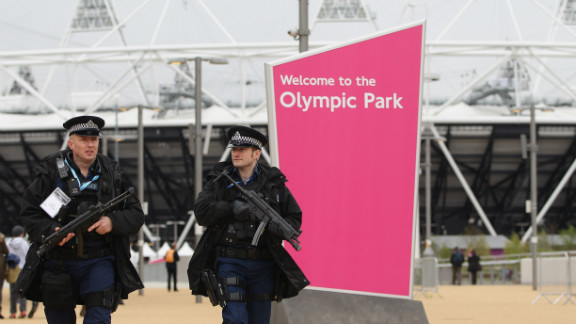 Visitors had to queue for events as they passed through airport-style checks. Security was high at the event, with police helicopters fyling overhead and armed officers patrolling the grounds.