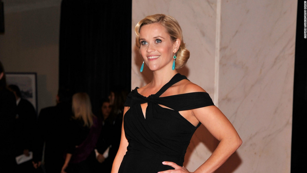 Lhuillier says she particularly enjoyed designing a wedding dress for actress Reese Witherspoon. She is pictured here in another of Lhuillier's gowns at the last White House Correspondents' dinner.