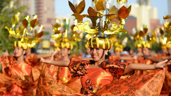 """Dubbed """"The Mother of All Fiestas"""", the annual Aliwan Festival held in Manila celebrates cultures from across the Philippines, with regional contingents competing in a street parade, beauty pageant, and float competition. iReporter Eduardo Sawal says it is """"not just an ordinary festival...it's all about showing how religion, culture and traditions enriched and affects the Filipinos' existence today."""""""