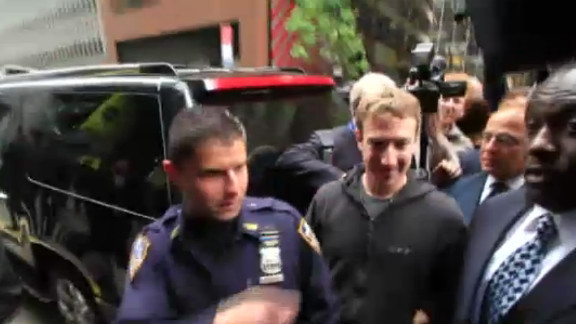 Facebook CEO Mark Zuckerberg in New York before his company's initial public offering.