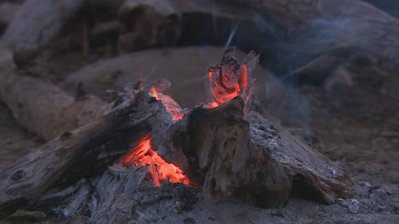 "The holy fire, or ""okuruwo,"" is the most important feature of Himba religious life. It provides a connection to their god and ancestors, and is never allowed to be extinguished, with an ember brought into the chief"