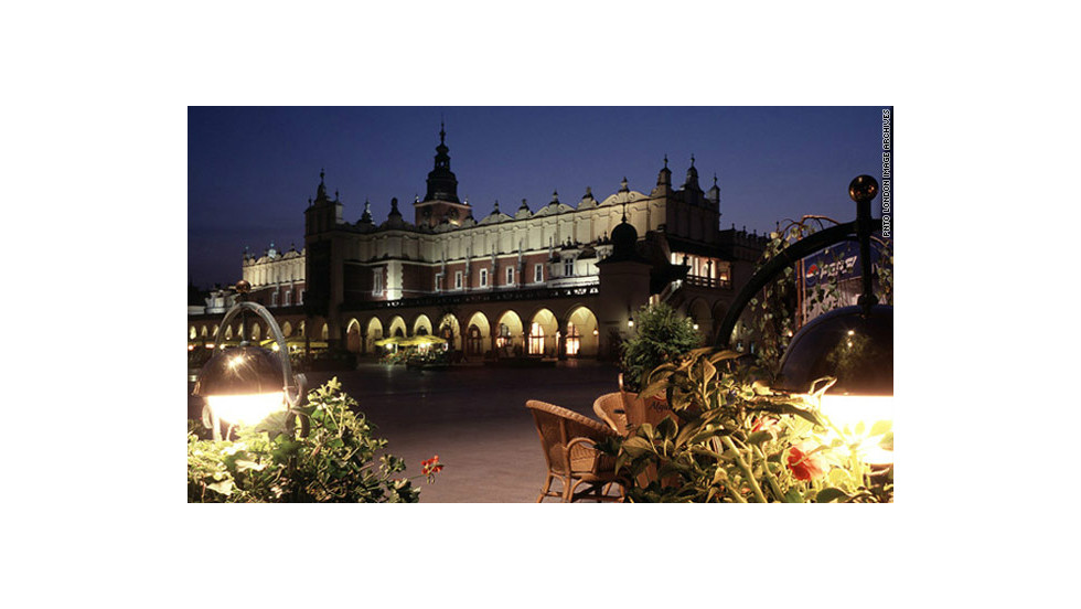 Located in the center of Krakow's Old Town, Market Square is one of the largest medieval squares in Europe, dating back to the 13th century.  It hosts several of the city's historical landmarks, including the Renaissance Sukiennice (ancient cloth market), St. Mary's Basilica, and the Town Hall Tower.  It is listed as a UNESCO World Heritage Site.