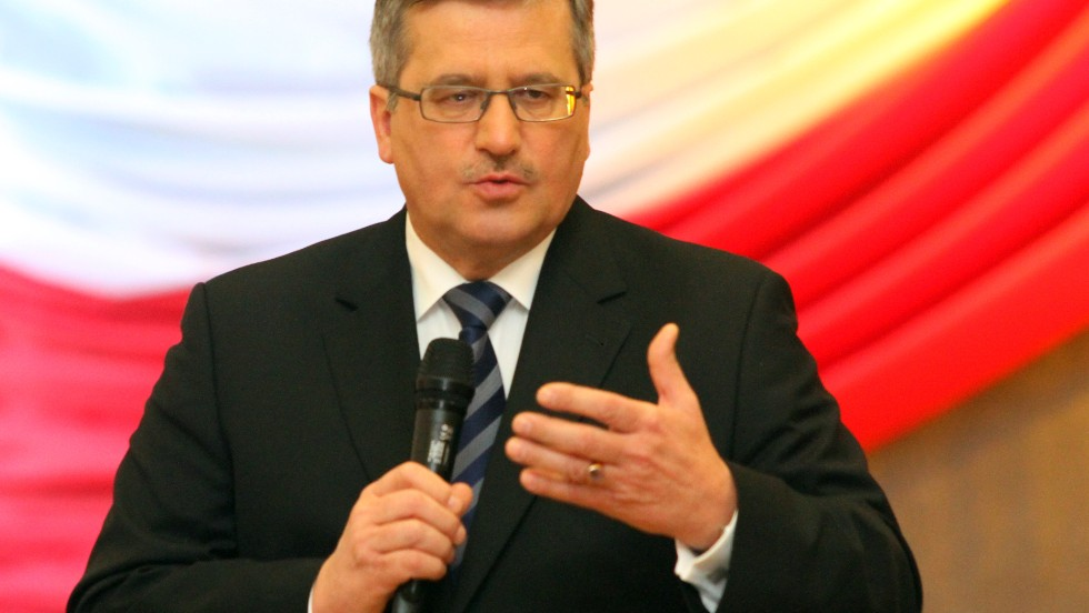 In 2010, President Lech Kaczynski and 95 others, including many of the country's top leaders, died in a plane crash in Russia. They were on their way to commemorate the 70th anniversary of the Russian massacre of Polish prisoners of war in the village of Katyn.  Following Kaczynski's death, Bronislaw Komorowski was elected as the country's president for a five year term.
