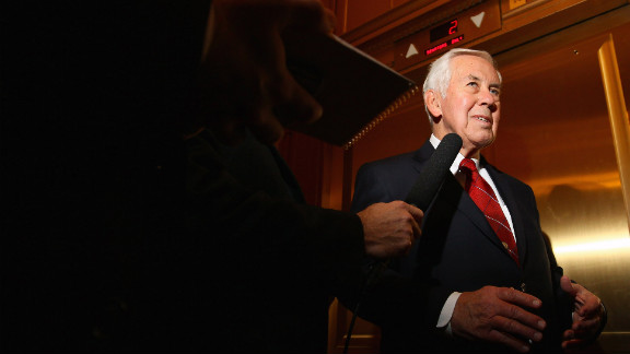 Sen. Richard Lugar, who lost his primary challenge Tuesday to Richard Mourdock.