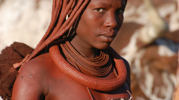 Some have speculated the otjize is applied for sun protection or to ward off insects, but the Himba say it is for aesthetic reasons.