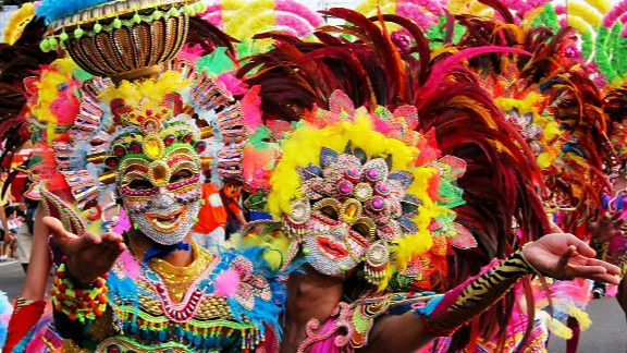 The Masskara Festival is held every October in Bacolod City, featuring a masked street dance competition, a beauty pageant, concerts, food fairs, and trade show. iReporter Giuseppe Diangco Pascual says his photo captured the essence of the festival-- that Filipinos know how to be happy no matter what.
