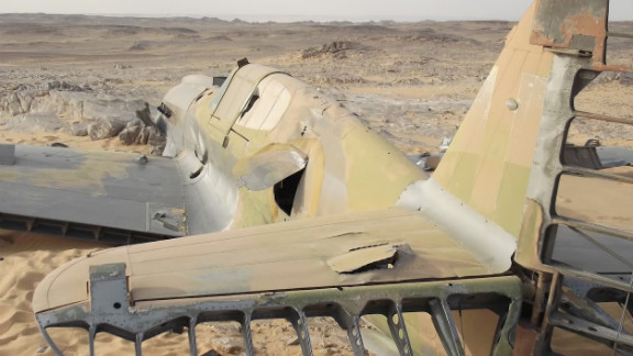 """The fighter's """"state of preservation is incredible,"""" British military historian Andy Saunders said. """"The thing just landed there in the desert and the pilot clearly got out. ... It is a complete time capsule really."""""""