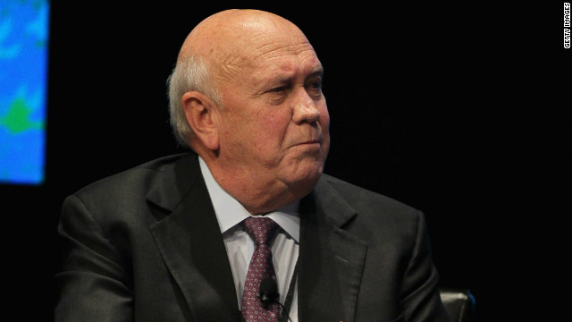 Former South African president FW de Klerk pictured in Chicago in April 2012.
