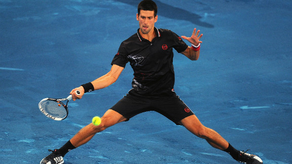 """Novak Djokovic, who beat Nadal in last year's final on red clay, has been an outspoken critic of the surface, saying: """"I played my first official match on blue clay and I have to admit I was not very happy. Next time I have to bring skates instead of shoes, it was sooo slippery."""""""