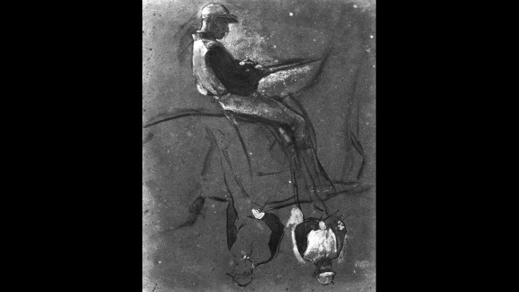 """The fifth of Degas' """"Gouache"""" drawings."""