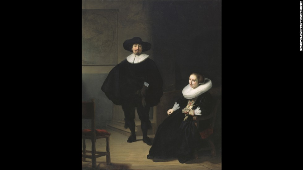 """A Lady and Gentleman in Black"" by Rembrandt"