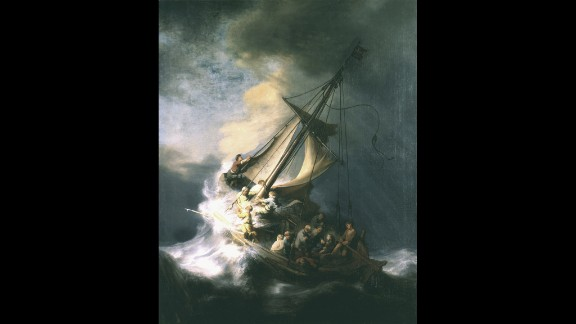 """""""The Storm on the Sea of Galilee,"""" the only seasscape painted by Rembrandt."""