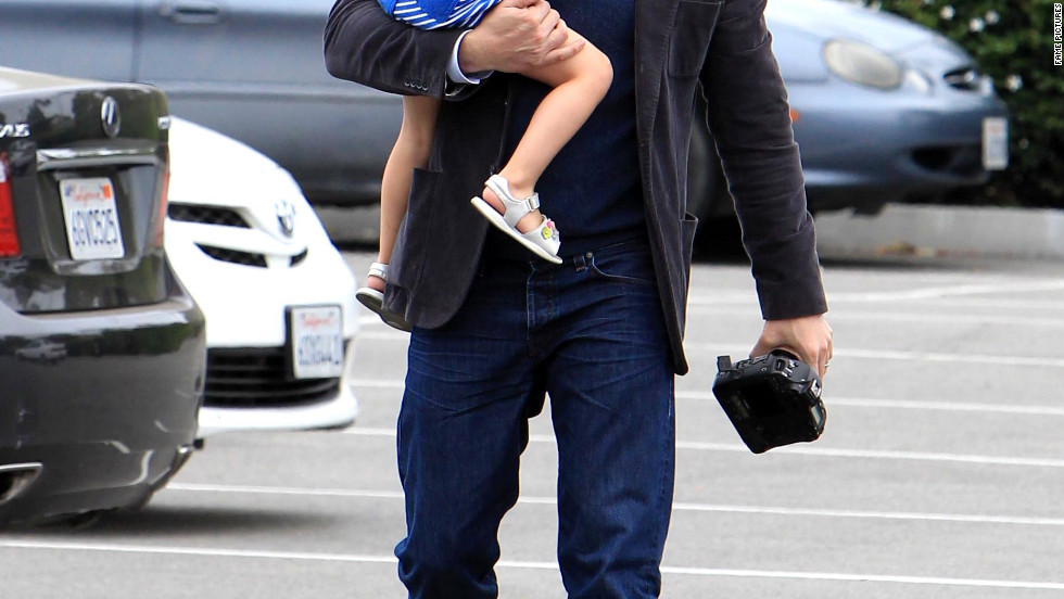 Ben Affleck takes his family to the Performing Arts Center in Redondo Beach.