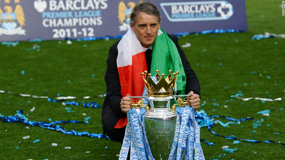 Roberto Mancini led the club to the FA Cup in 2011 before winning the league title the following season -- the first time City had won the competition in 44 years.