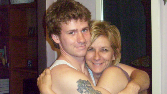 Matthew Smith and his mother, Christine.