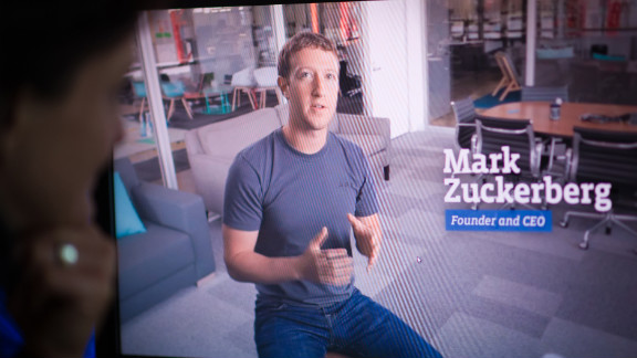 He wore it in this promotional video ahead of the company's IPO in May 2012.