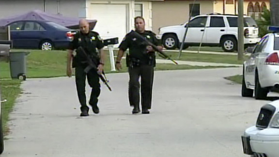 Sheriff's deputies and SWAT team members converged on a Port St. John home early Tuesday after reports of shootings.