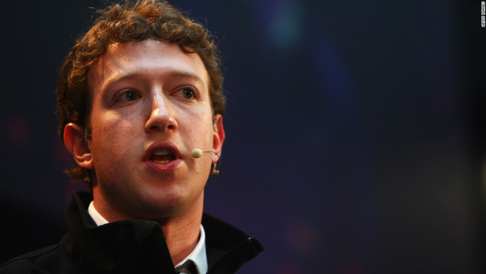 One month after acquiring rival network FriendFeed, Zuckerberg announces Facebook has begun turning a profit for the first time.