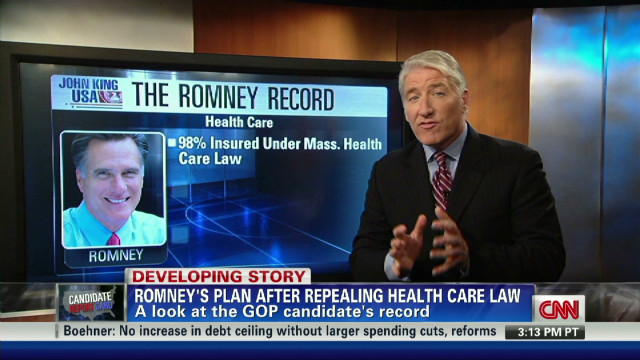 Looking at Romney's health care record.