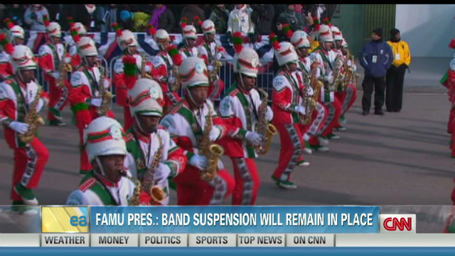 FAMU president: Band suspended into 2013