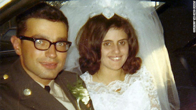 Spec. Leslie Sabo Jr. and Rose Mary on their wedding day in 1969. He died heroically in Cambodia a few months later.