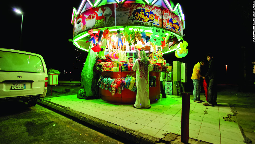 "In his series ""Neonland,"" artist Saeed Salam explores the bright lights of Jeddah, the Saudi Arabian city where he was born and now lives."