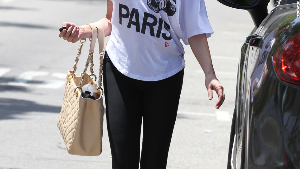 Rose McGowan leaves a gym in Los Angeles.