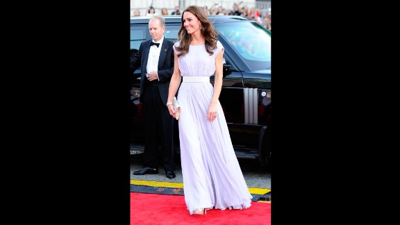 Clad in Alexander McQueen, she arrived for BAFTA
