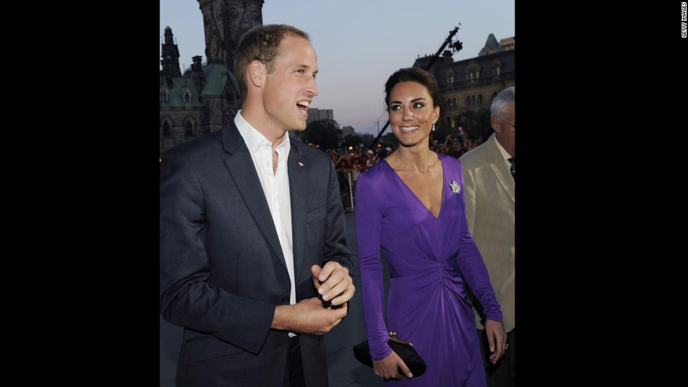 Will and Kate, wearing a purple Issa dress, celebrate Canada Day in Ottawa.