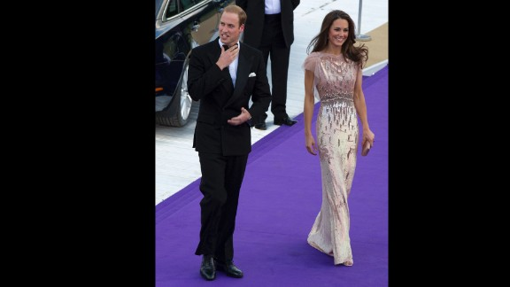 Stepping out in another Jenny Packham gown, Kate attends a gala at London