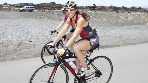 CNN medical news director and Fit Nation coach Roni Selig rides on the Big Island of Hawaii.