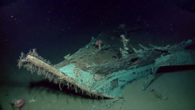 Check out what a NOAA camera shot at the site of the shipwreck