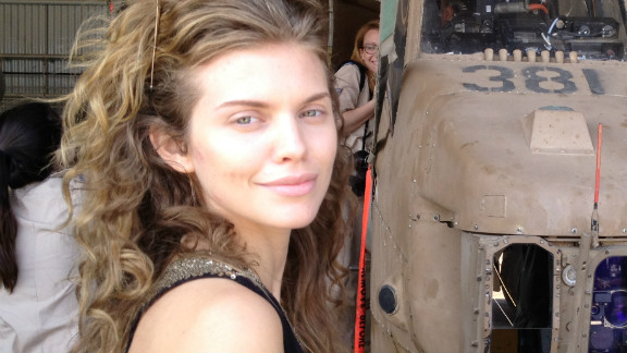 AnnaLynne McCord sported minimal makeup while visiting Israel in May.