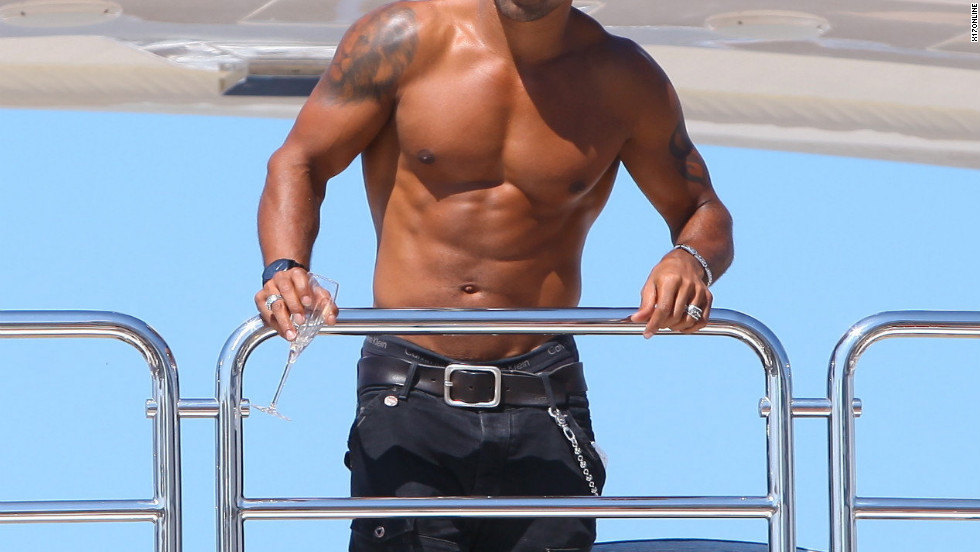 Shemar Moore relaxes on a yacht in Cannes.