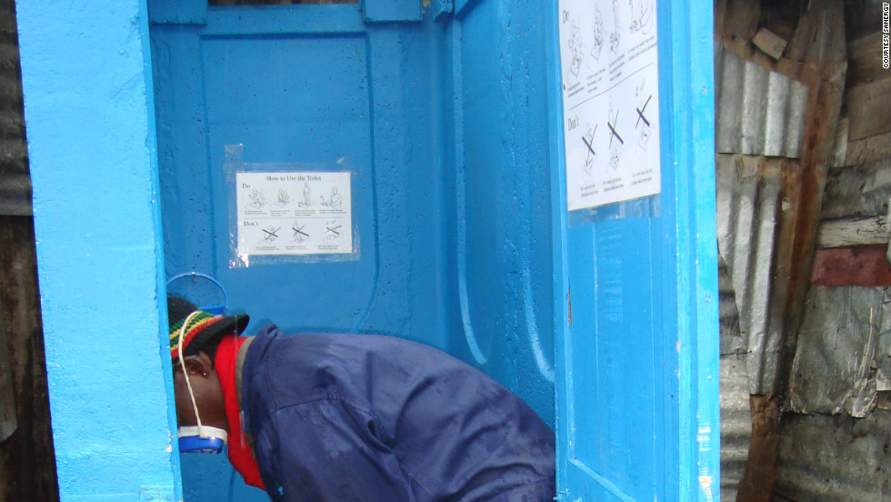 Each day, Sanergy employees empty and collect the waste deposited at the company's sanitation centers dotted across Nairobi.