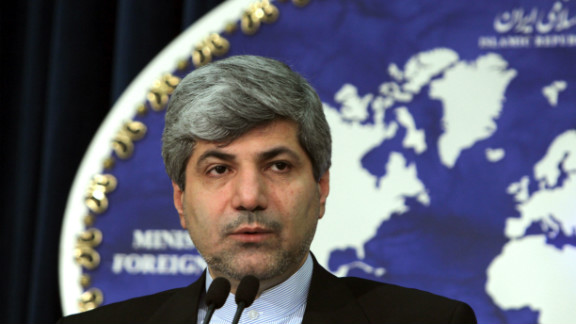 "Iranian Foreign Ministry spokesman Ramin Mehmanparast, shown in a file photo, says Google has been ""treated as a plaything."""