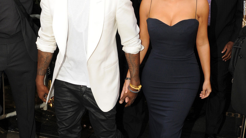 Kanye West and Kim Kardashian head to the 2012 UK Fragrance Awards in London.