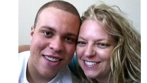 Garret Davenport, left, and his mother Tammy both have hemophilia.