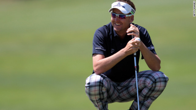 Ian Poulter is all smiles during his afternoon victory over Tom Lewis at the Volvo World Match Play Championship.