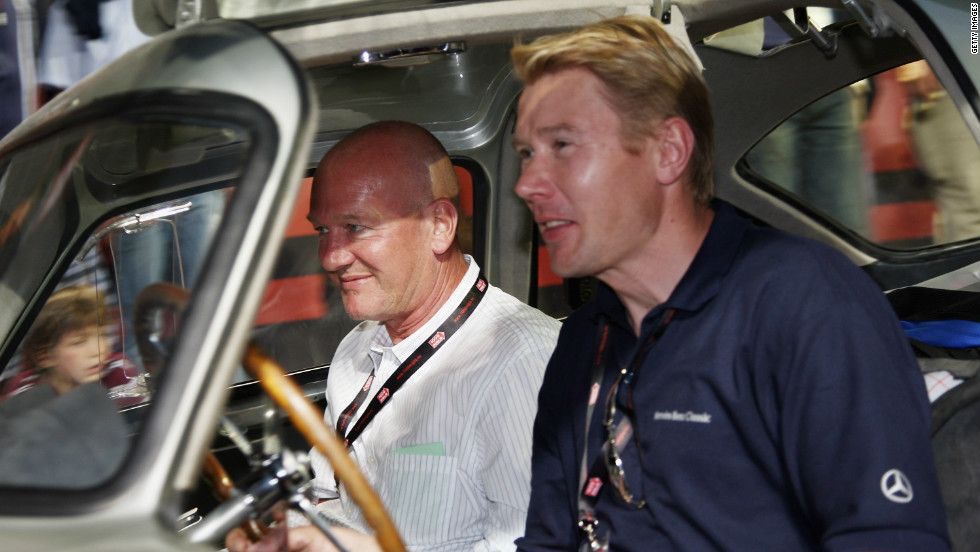 Finland's Mika Hakkinen, a double Formula One world champion, competed in the 2008 event.