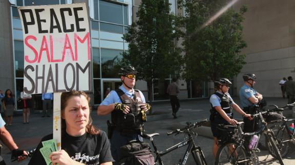 Police guard President Barack Obama