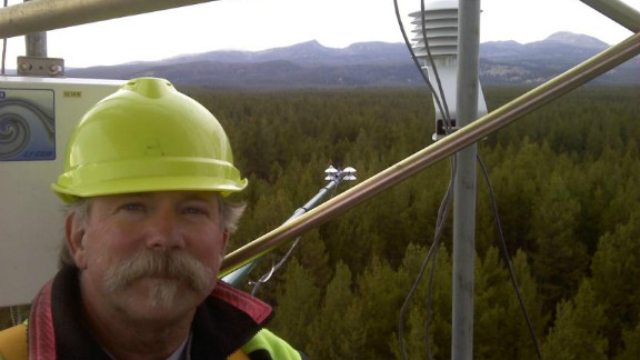 Scientist Rick Allen monitors water use with satellite imagery.